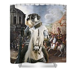 Schnauzer Art - A Siege The Sack Of Rome   Shower Curtain