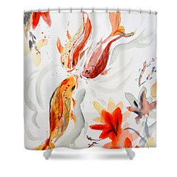 School Shower Curtain by Beverley Harper Tinsley