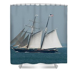 Schooner At Sail Shower Curtain