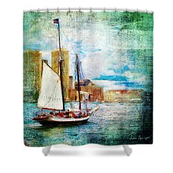 Schooner Bay Shower Curtain