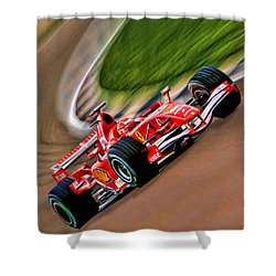 Schumacher Bend Shower Curtain by Blake Richards