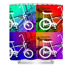 Shower Curtain featuring the digital art Schwinn Sting-ray by Stephen Younts