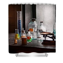 Science - Chemist - Chemistry Equipment  Shower Curtain by Mike Savad