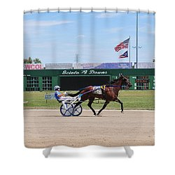 D3w-206 Scioto Downs Photo Shower Curtain