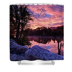 Shower Curtain featuring the photograph Scioto Sunrise by Jaki Miller