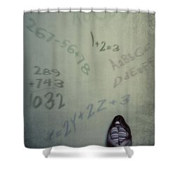 Scolionophobia - Fear Of School Shower Curtain by Joana Kruse