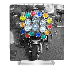 Scooter Spotlights Shower Curtain