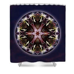 Scorpio Moon Warrior Shower Curtain