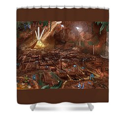 Shower Curtain featuring the painting Scorpion Valley by Reynold Jay