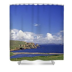 Scotland Shetland Islands Eshaness Cliffs Shower Curtain by Anonymous