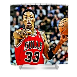 Scottie Pippen Shower Curtain