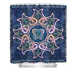 Scottish Blessing Celtic Hearts Duvet Shower Curtain by Michele Avanti