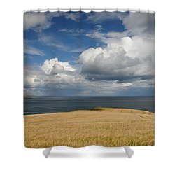 Scottish Coastal Wheatfield Shower Curtain by Jeremy Voisey