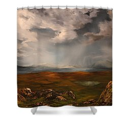 Scottish Loch Shower Curtain by Jean Walker