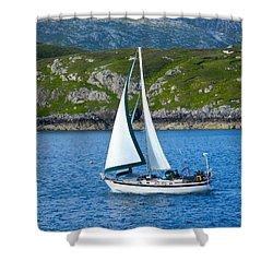 Scottish Sails Shower Curtain