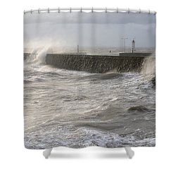 Scottish Sea Storm Shower Curtain by Jeremy Voisey