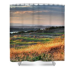 Shower Curtain featuring the photograph Scottish Style Links In September - Chambers Bay Golf Course by Chris Anderson