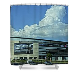 Scottrade Center Home Of The St Louis Blues Shower Curtain by Greg Kluempers