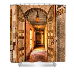 Scotty's Castle  Shower Curtain by Heidi Smith