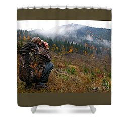 Shower Curtain featuring the photograph Scouting by Nick  Boren