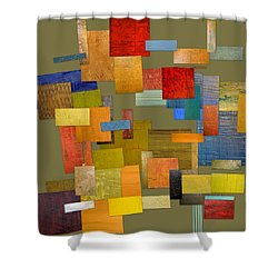 Scrambled Eggs Ll Shower Curtain by Michelle Calkins
