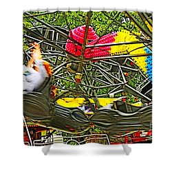 Scream If You Want To Go Faster Shower Curtain by Terri Waters