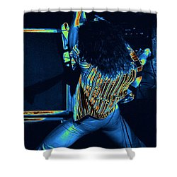 Screaming Guitar Shower Curtain by Ben Upham