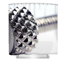Screw Shower Curtain by Michal Bednarek