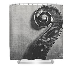 Scroll In Black And White Shower Curtain