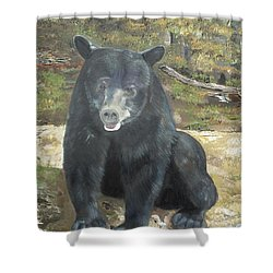 Shower Curtain featuring the painting Scruffy Again by Jan Dappen