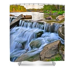 Sculpted Falls Shower Curtain by Frozen in Time Fine Art Photography