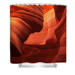 Shower Curtain featuring the photograph Sculpted Sandstone Upper Antelope Slot Canyon Arizona by Dave Welling