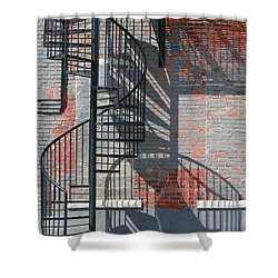 Sculptural Architecture 3 Shower Curtain