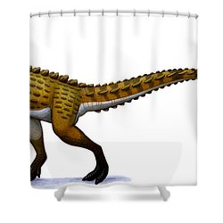Scutellosaurus, An Early Jurassic Shower Curtain by H. Kyoht Luterman