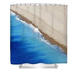 Shower Curtain featuring the photograph Sea And Sand by Wendy Wilton
