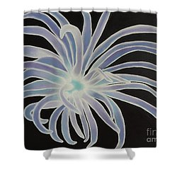 Shower Curtain featuring the painting Sea Anemone by Dianna Lewis