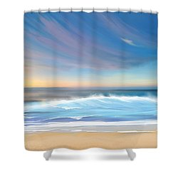 Shower Curtain featuring the digital art Sea Coast Escape by Anthony Fishburne