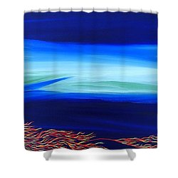 Sea Dragon Shower Curtain by Robert Nickologianis
