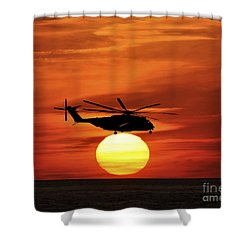 Sea Dragon Sunset Shower Curtain