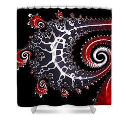 Sea Dragon Shower Curtain by Susan Maxwell Schmidt