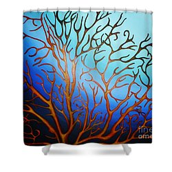 Sea Fan In Backlight Shower Curtain