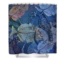Sea Fossil World Shower Curtain