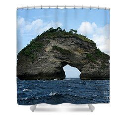 Sea Gate Shower Curtain by Sergey Lukashin