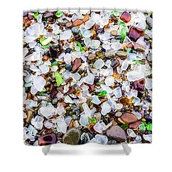 Sea Glass Treasures At Glass Beach Shower Curtain