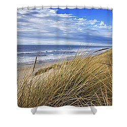 Sea Grass And Sand Dunes Shower Curtain