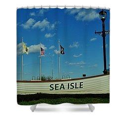 Sea Isle City Shower Curtain by Ed Sweeney