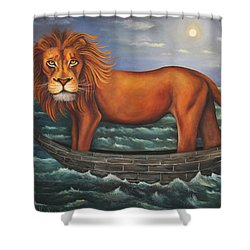 Sea Lion Softer Image Shower Curtain by Leah Saulnier The Painting Maniac