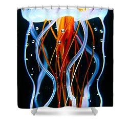 Sea Nettle Jellyfish Shower Curtain