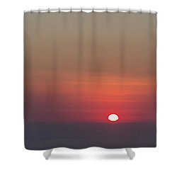 Sea Of Clouds Sunset Shower Curtain