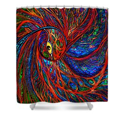 Sea Of Peacock Shower Curtain